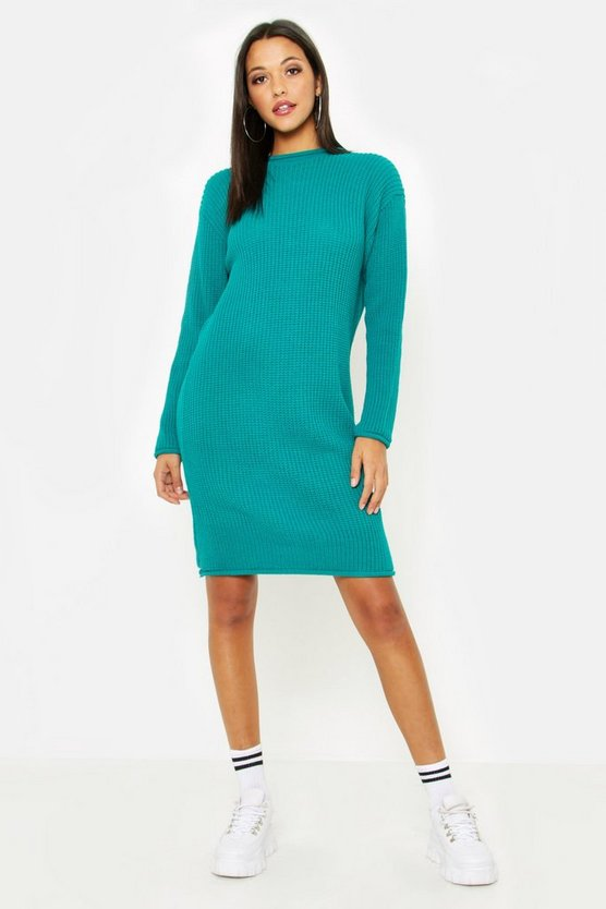 Tall Roll Hem Sweater Dress