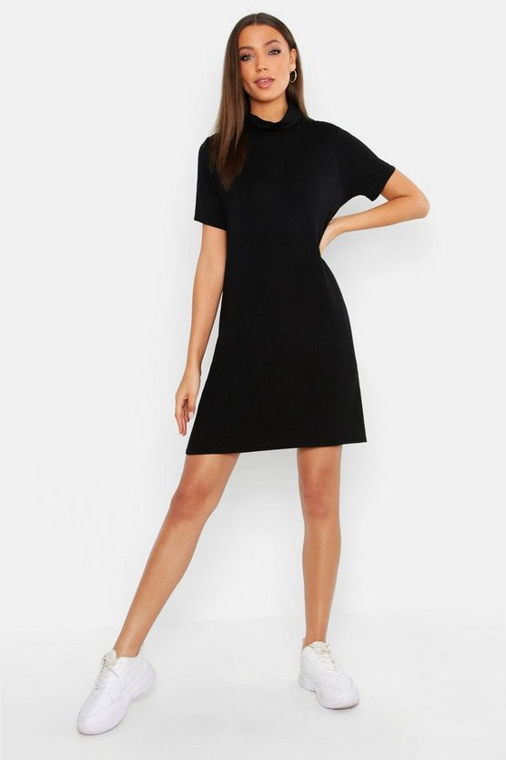 Tall Roll Neck T Shirt Dress
