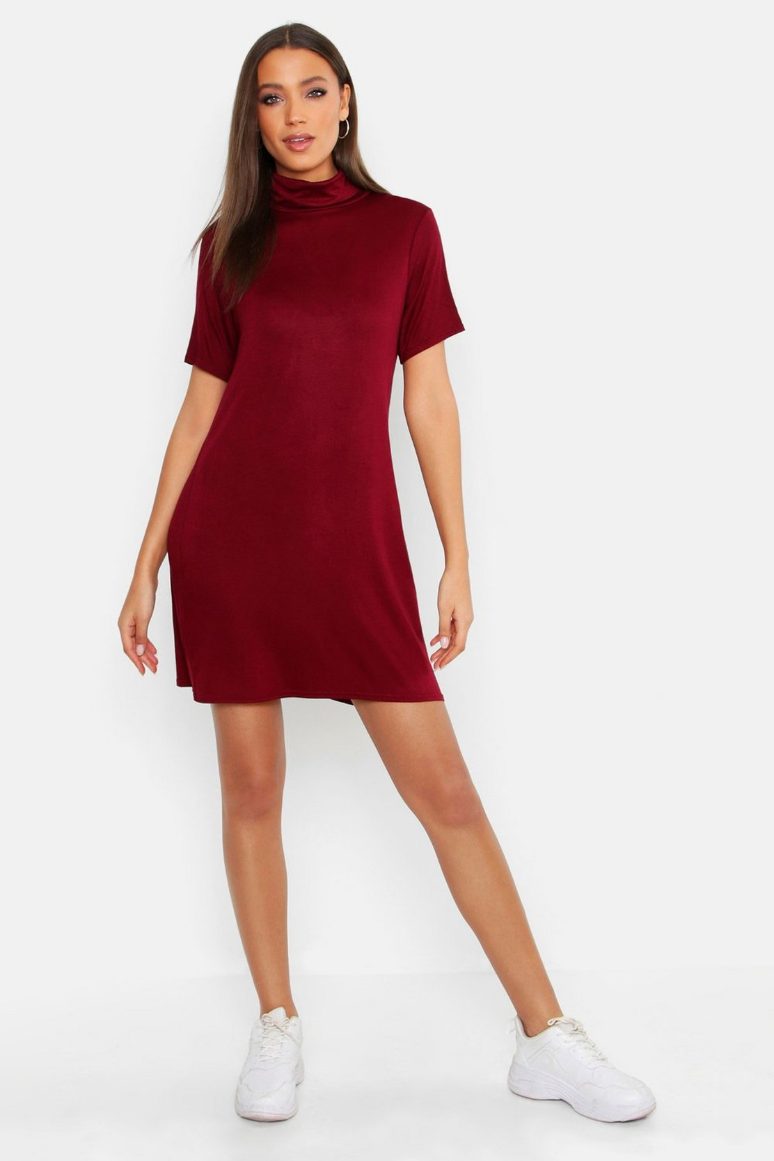 661662792d77 Shoptagr | Tall Roll Neck T Shirt Dress by Boohoo