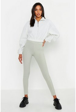 Womens Sage Tall Rib Leggings