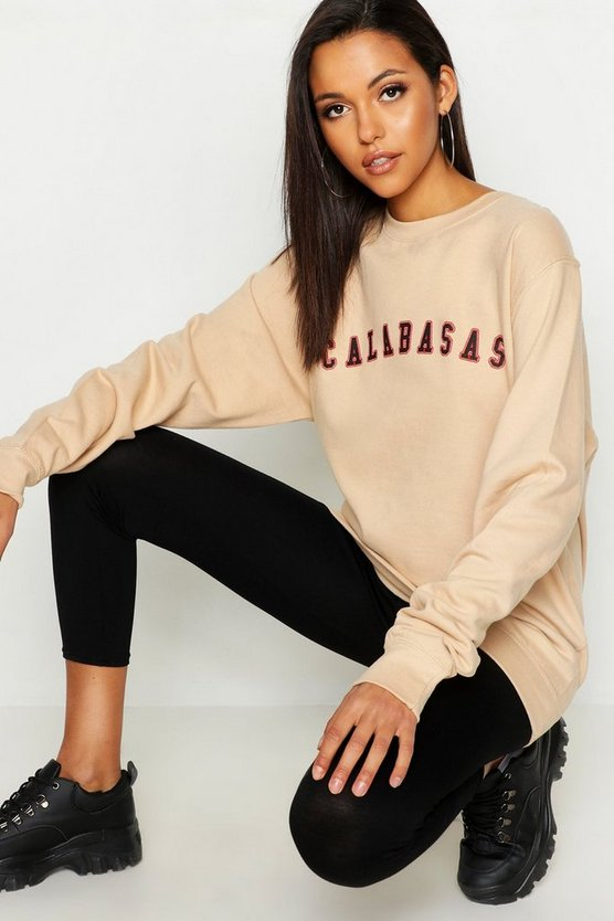 Tall Calabasas Slogan Sweat