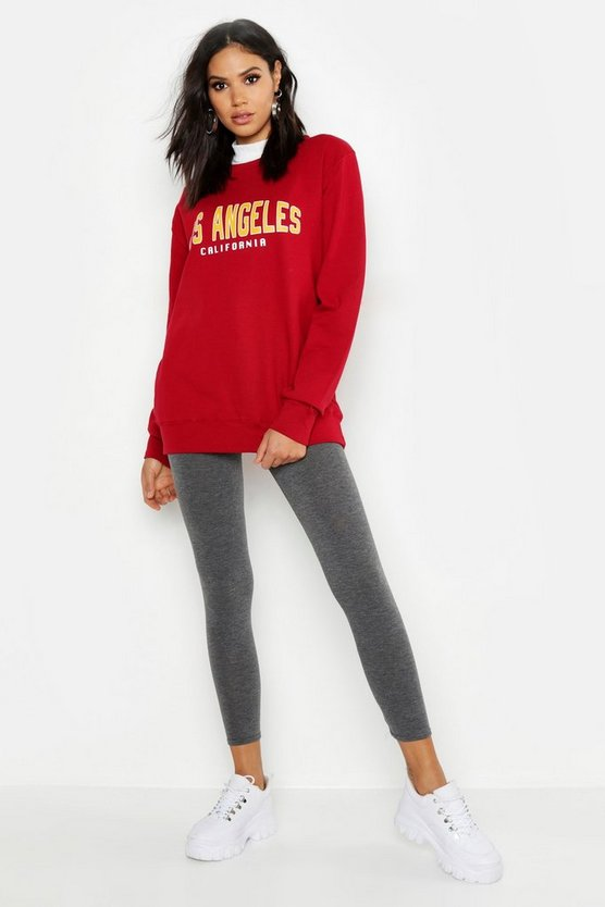 Tall Sweatshirt mit Slogan Los Angeles