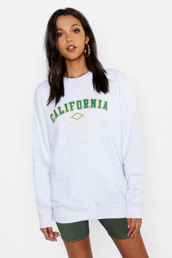 Tall California 1991 Slogan Sweat