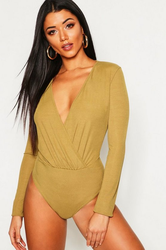 Tall Rib Wrap Bodysuit