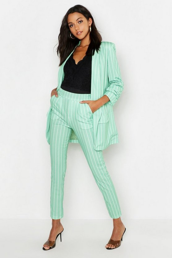 Tall Stripe Woven Tailored Trousers