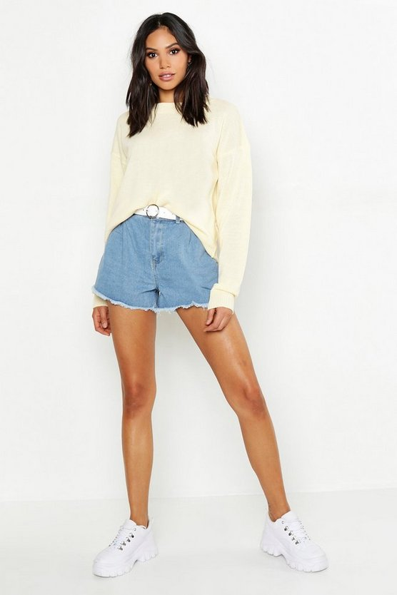 Tall Boxy Crew Neck Jumper