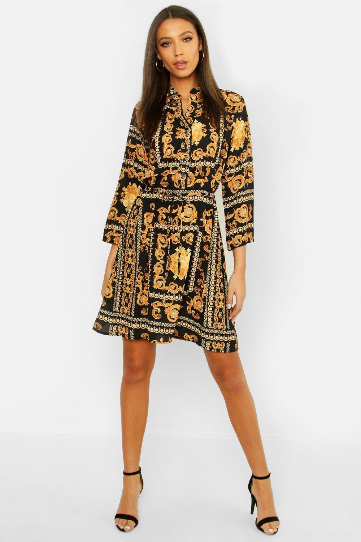 Tall Chain Print Shirt Dress