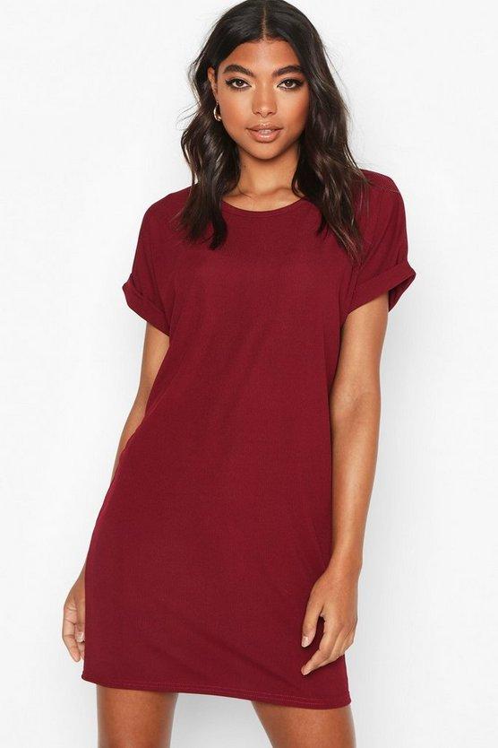 Tall Rib Oversized T-shirt Dress