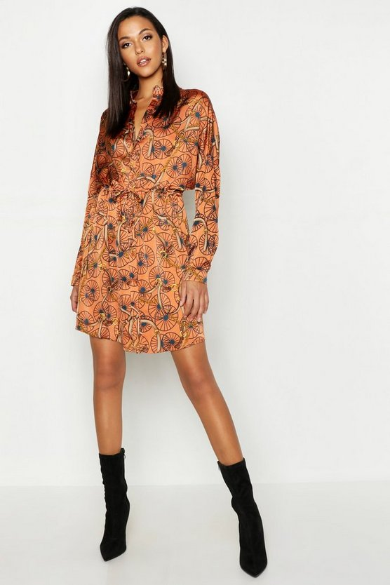 Tall Chain Print Shirt Dress
