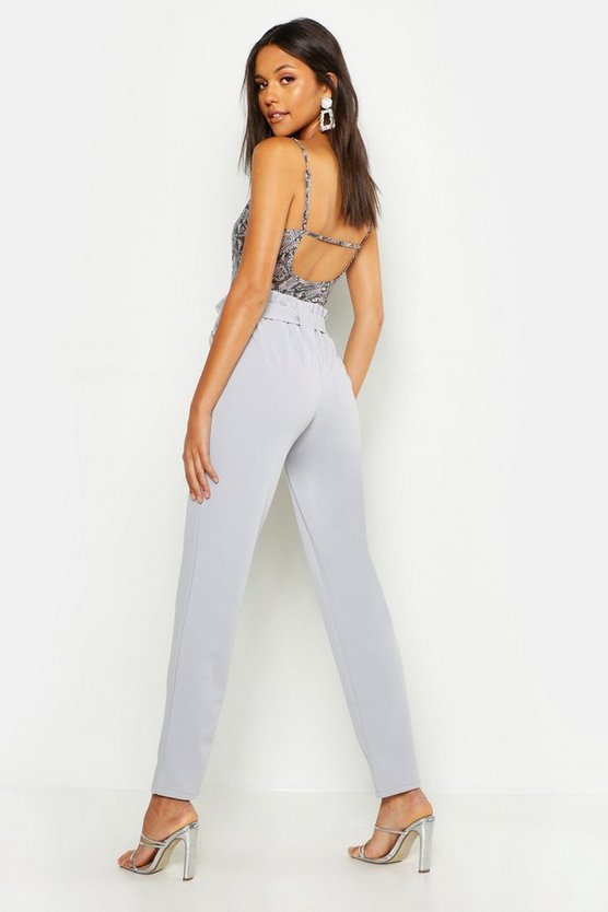 Tall Paperbag Waist Belted Trouser