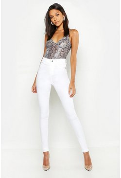 Womens Tall Ecru Jeggings