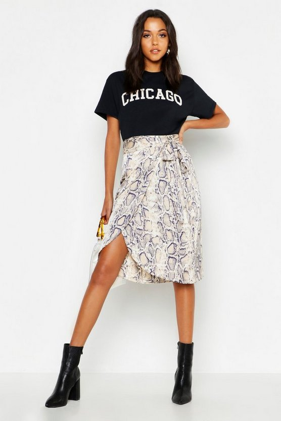 Camiseta con eslogan Chicago Tall