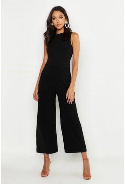Black Tall Tailored Jumpsuit