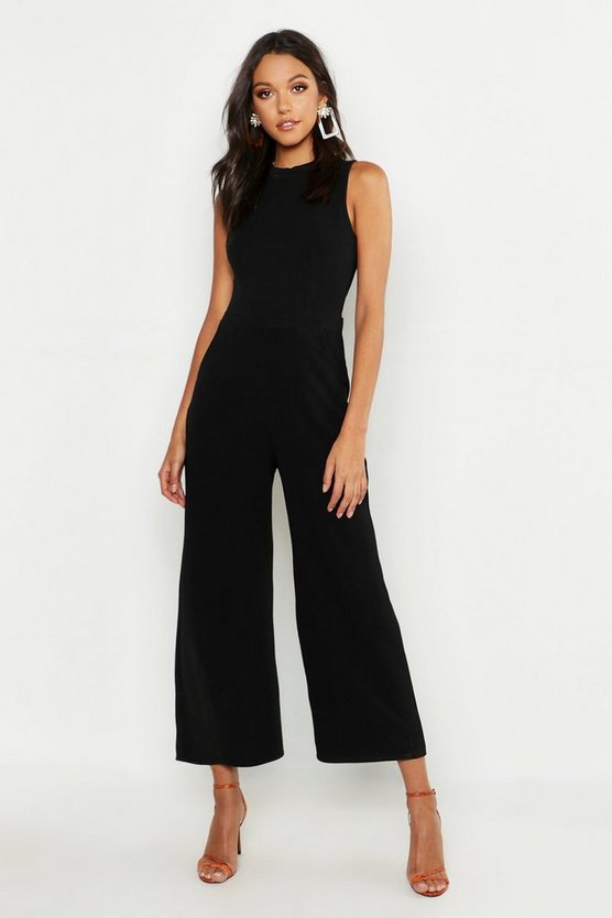 Womens Black Tall Tailored Jumpsuit