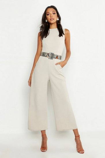 Stone Tall Tailored Jumpsuit