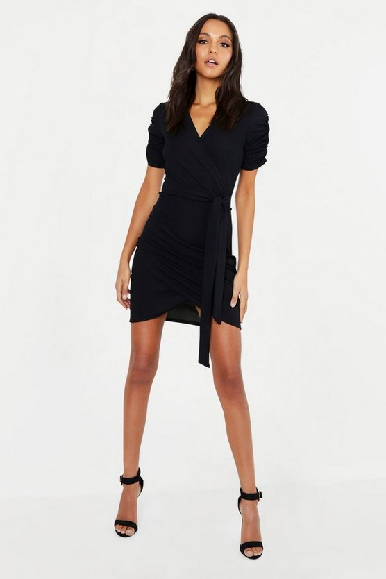 Tall Ruched Sleeve Dress