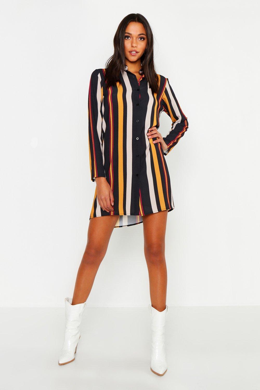 Tall Stripe Shirt Dress