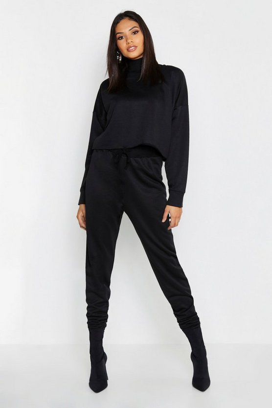 Womens Black Tall Basic Joggers