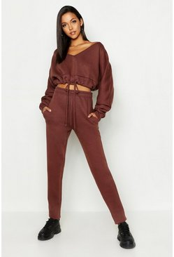 Womens Toupe Tall Slouchy Off The Shoulder Lounge Set