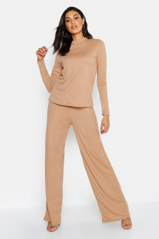 Tall Long Sleeve Knitted Rib Co-Ord