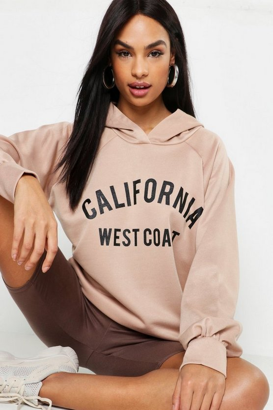 Tall California Slogan Hoody