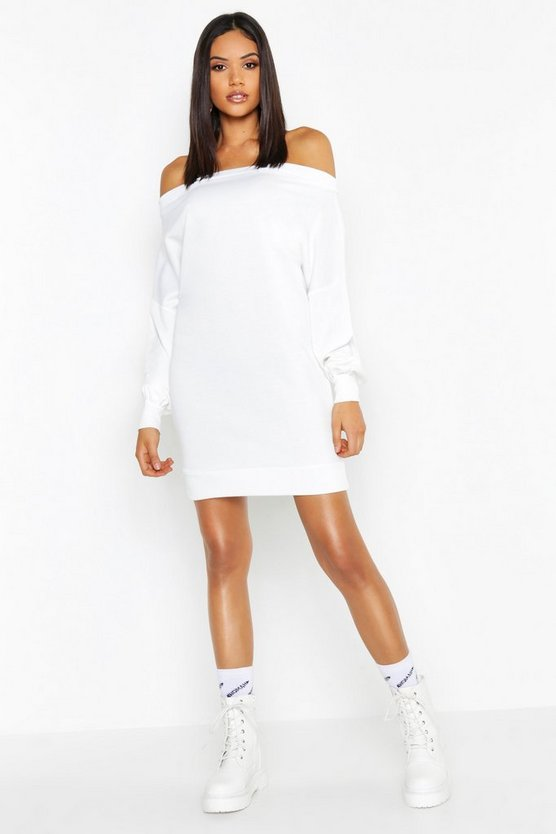 Tall Off The Shoulder Sweat Dress