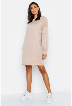 Womens Stone Tall Oversized Sweat Dress