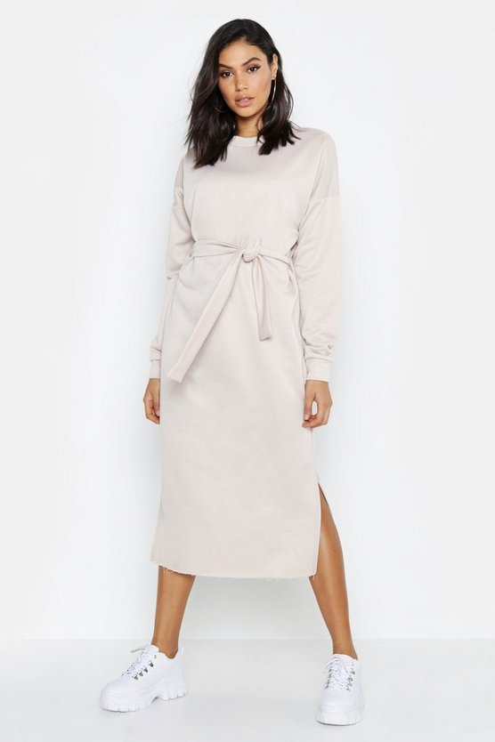 Tall Belted Midi Sweat Dress