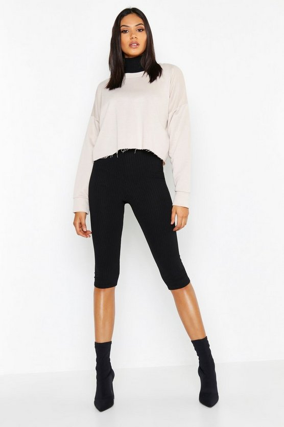 Sweat oversize coupe carrée avec ourlet brut Tall