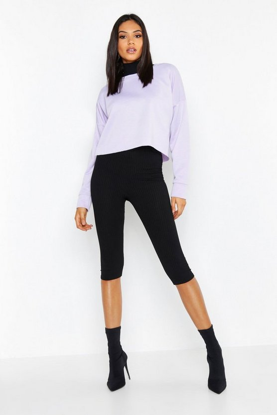 Womens Lilac Tall Raw Hem Oversized Boxy Sweat