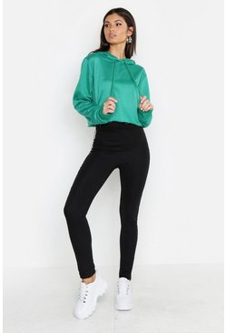 Womens Forest Tall Cropped Hoody