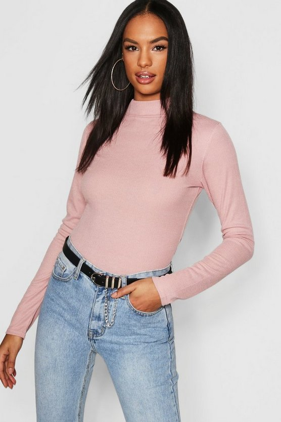 Tall Rib High Neck Top
