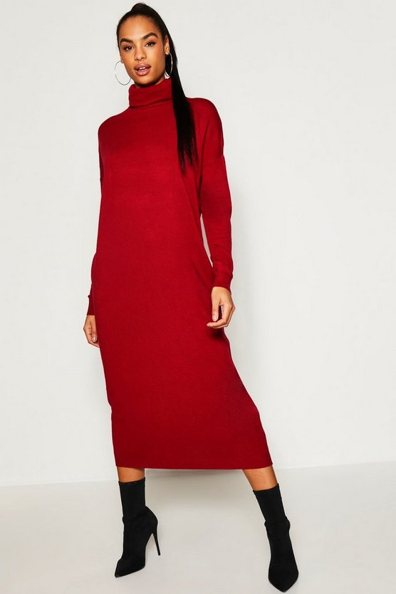 Tall Roll Neck Knitted Dress