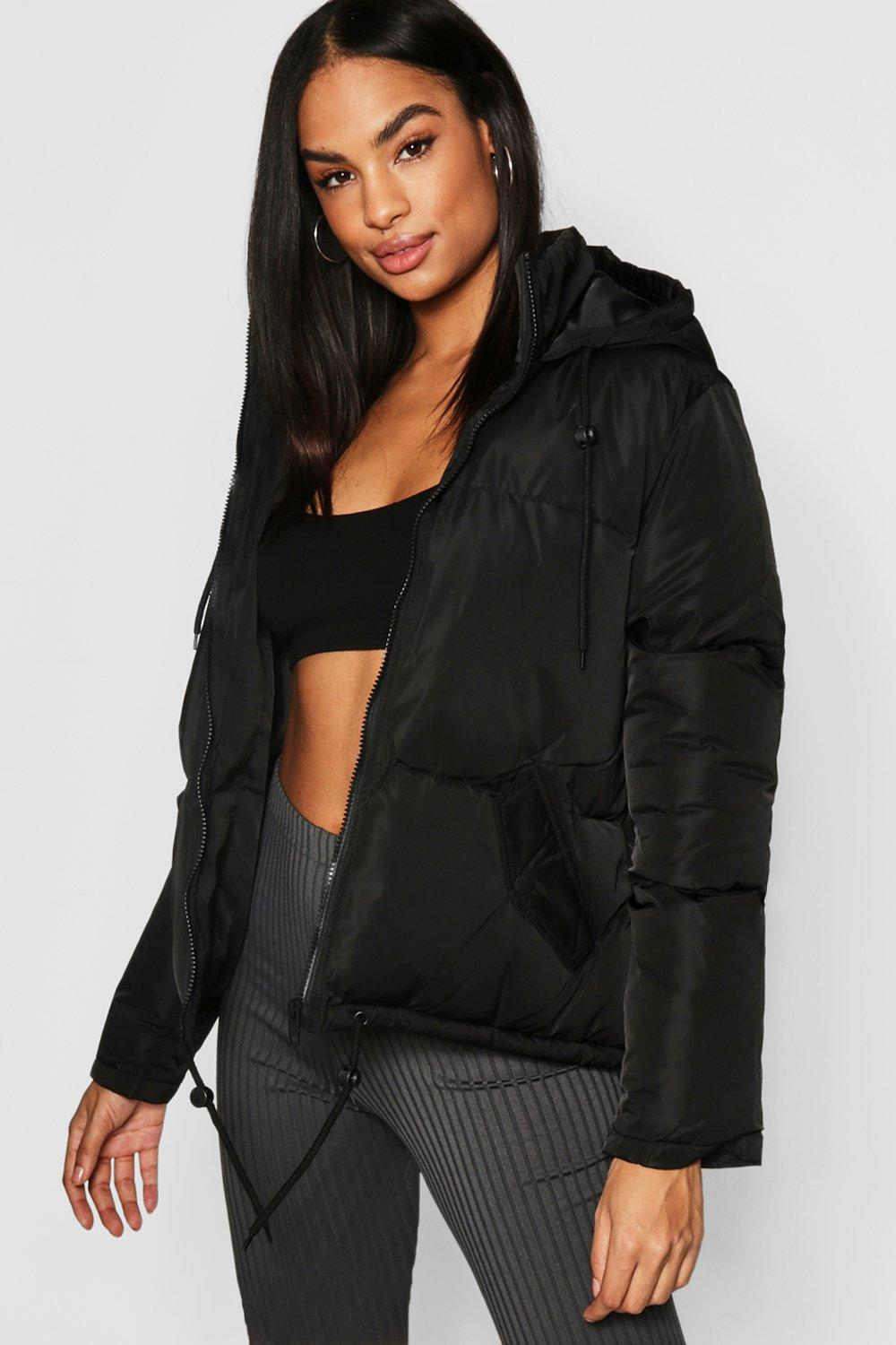 Tall Hooded Crop Padded Jacket