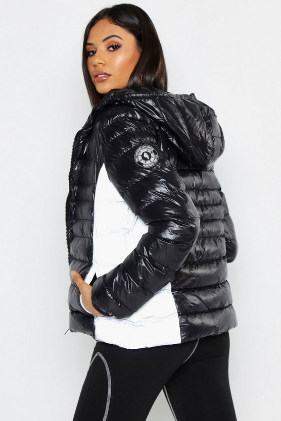 Tall Reflective Panel Quilted Jacket