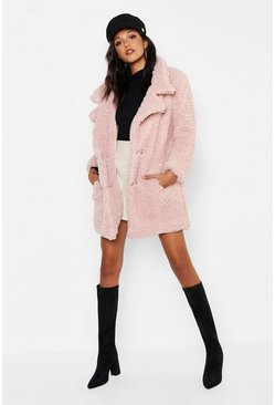 Womens Tall Oversized Faux Fur Coat