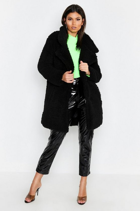 Tall Oversized Faux Fur Coat