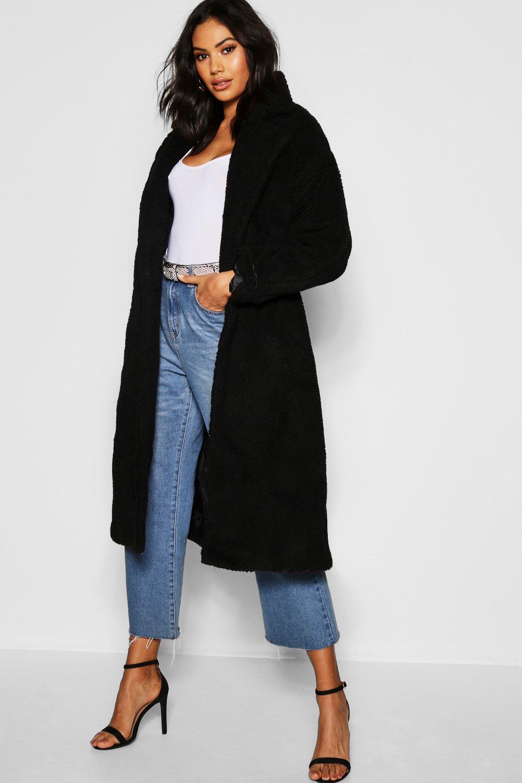 Tall Long Teddy Faux Fur Coat