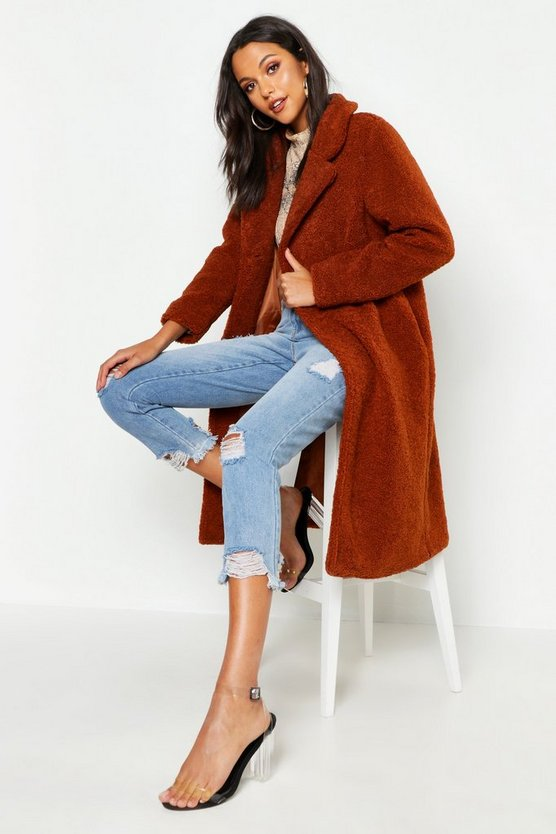 Tall Oversized Teddy Faux Fur Coat