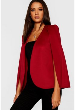Womens Berry Tall Cape Blazer