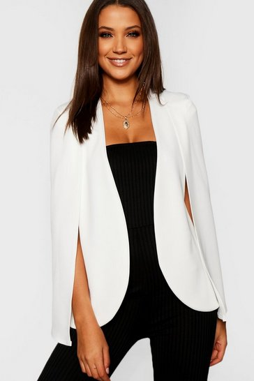 Ivory Tall Cape Blazer