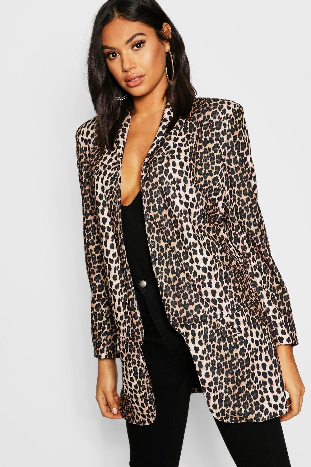 Tall Leopard Print Tailored Blazer