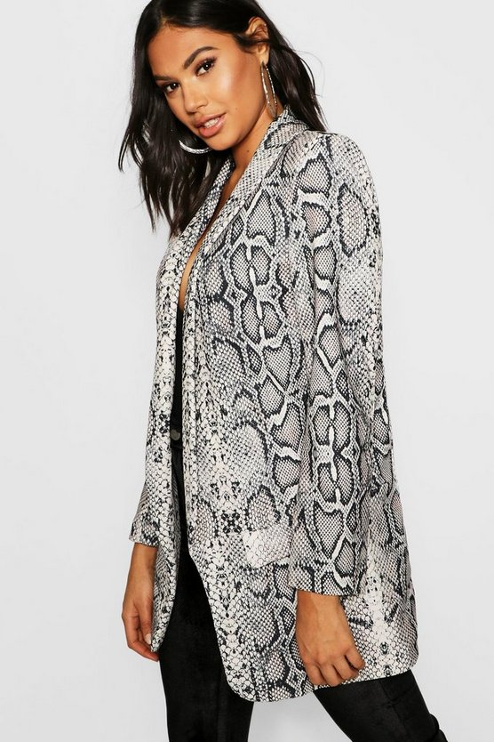 Tall Snake Print Tailored Blazer