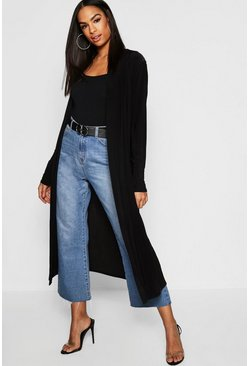 Womens Black Tall Slinky Duster Jacket