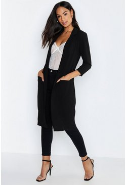 ba09021b76b Duster Coats & Jackets: Black/Long/Sleeveless | Buy at boohoo
