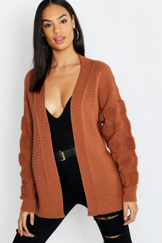 Tall Chunky Bubble Sleeve Cardigan