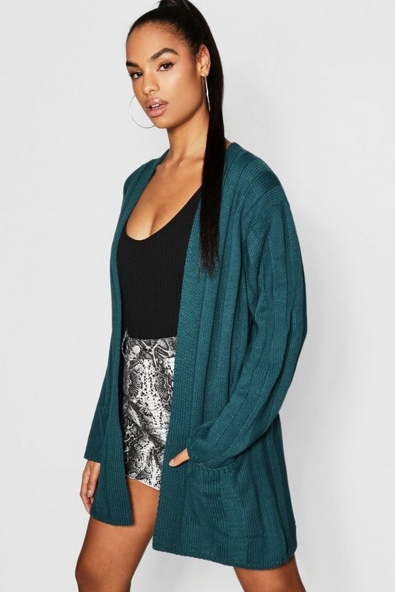 Tall Wide Rib Slouchy Cardigan