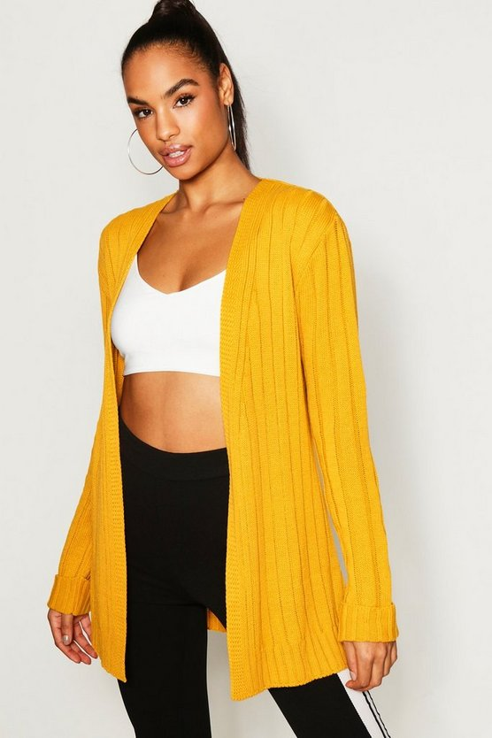 Tall Wide Rib Edge Cardigan
