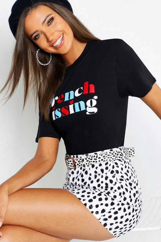 Tall French Kissing Slogan T-Shirt