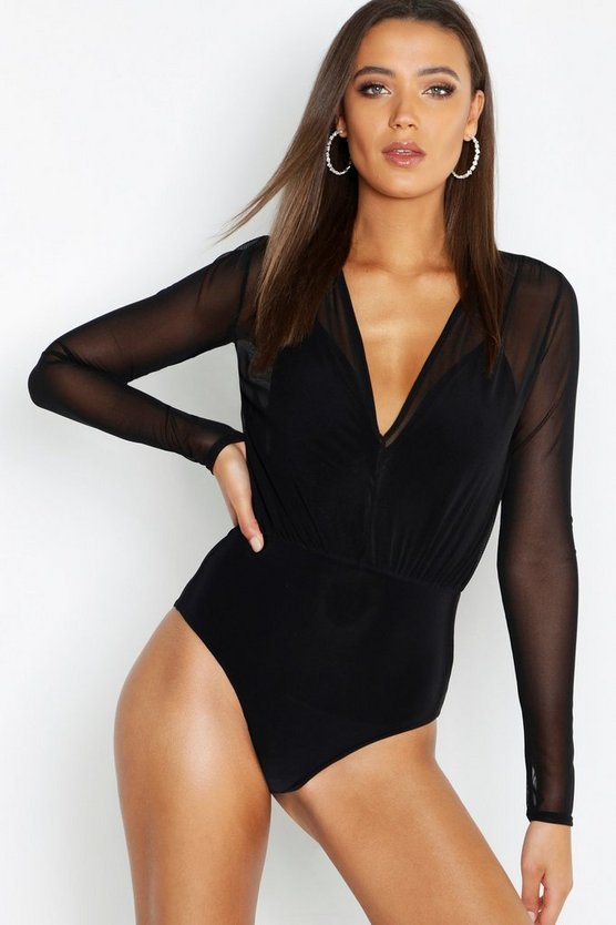 Tall Mesh 2 in 1 Bodysuit